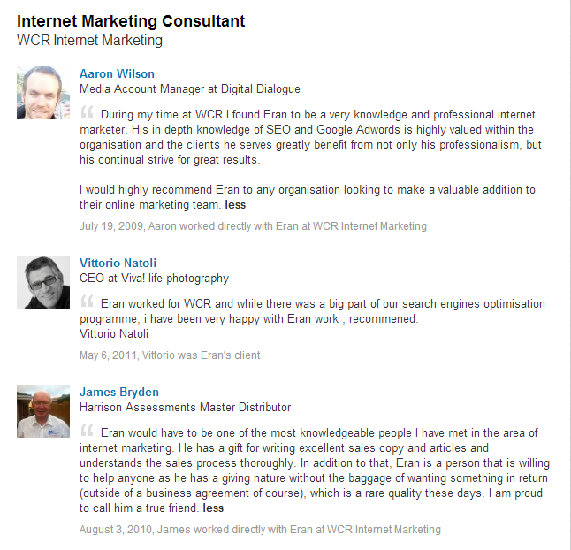 WCR Internet Marketing Testimonials