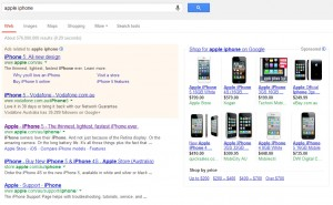 apple iphone search results
